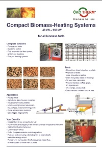 Oekotherm Compact Biomass Data Sheet